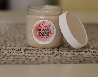 CARAMEL PECAN Whipped Body Polish Sugar Scrub 4oz.  Kid Friendly - Vegan Friendly - Gift for Her Christmas Scent - Caramel Pecan