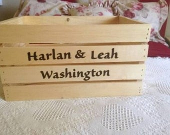 Personalized wood crate