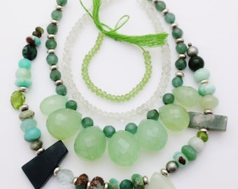 Wholesale Lot Green Gemstone Beads Peridot Green Amethyst MORE