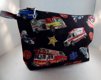 Rescue Fireman Policeman Medic Makeup Bag Cosmetic Travel Bag Organizer Bag