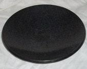 Corian Bowl Black Speckled Stone Decorative Bowl