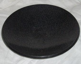 Granite Bowl Black Speckled Stone Decorative Bowl