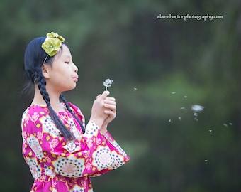Cranberry Kaleidoscope long sleeve nelle dress,size 12mos.-8 girls