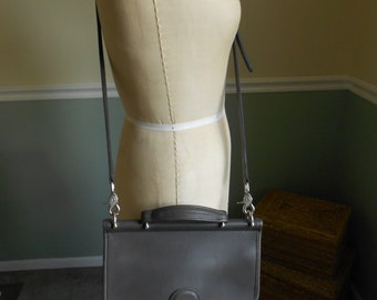 Coach Leather Willis Crossbody Bag / Rare Gray Color