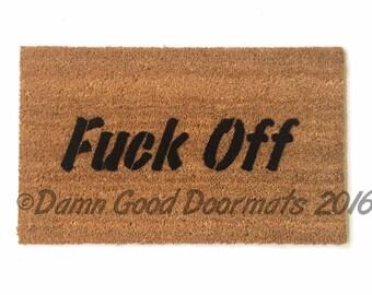 rude doormat F%ck Off - outdoor mature door mat funny