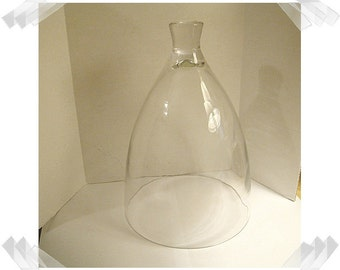 """Glass Cloche with Glass Knob/Dome Shape- 10"""" tall/ Home Decor/Supplies/Few Left in stock***"""