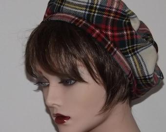Ladies Scottish Traditional Tartan Beret, Stuart Tartan Tam