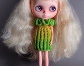 Squash Blossom dress in Yellow and Green