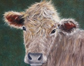 Cow Painting Cow Portrait, Oil Painting, Calf Painting, Cow Art, Cattle, Bovine, Arkansas, Farm Animal, Cow, Helen Eaton