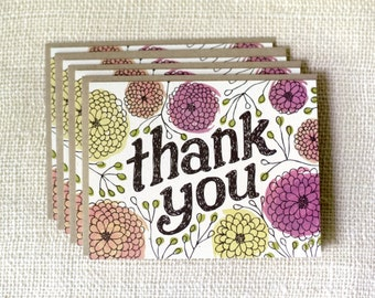 Boxed Note Card Set - Thank You Zinnias