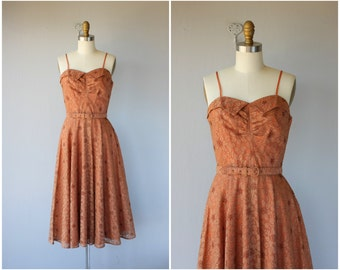 Vintage 1950s Dress | 50s Dress | 1950s Lace Party Dress | 50s Party Dress | 1950s Cocktail Dress