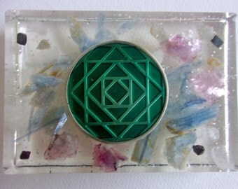 Large Sacred Geometry Orgone Piece for Emotional Balance, Empowering and Source Energy Alignment
