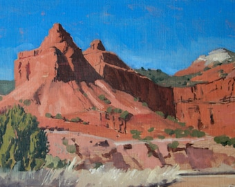Caprock Canyon, TX - original oil landscape painting (LD 77)