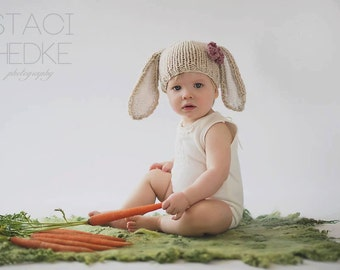 Bunny Hat, Bunny Ears, Easter Hat, Easter Outfit, Photo Prop
