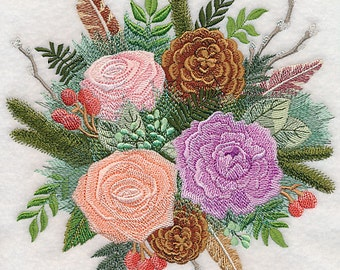 WOODLAND MEADOWS - Machine Embroidery Quilt Block (AzEB)