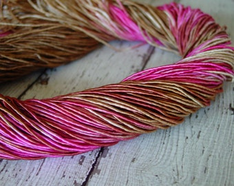 Pre-Cut Sale - Hand Dyed BRONZED ROUGE cord, 12 yards