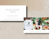 Business Card Template for Photographers - Wedding Photography Marketing Templates