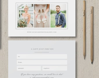 INSTANT DOWNLOAD! SALE! Photography Studio Gift Card Template - Photographer Marketing Templates - Wedding Photographer Branding