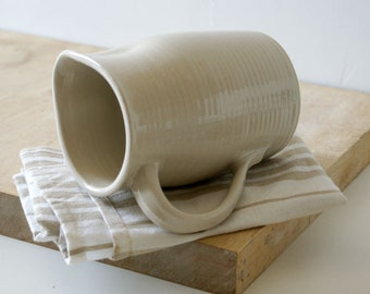Tall bellied pouring jug - wheel thrown and glazed in simply clay