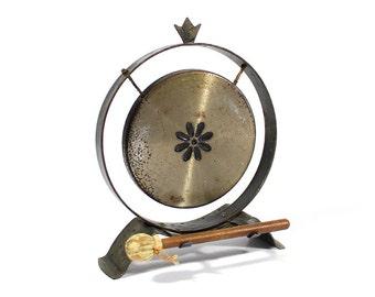 Vintage Tabletop Gong - Desk Gong - Dining Gong