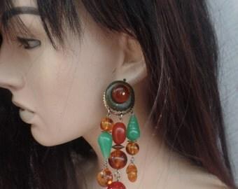Vintage 1980s Huge Chandelier earrings