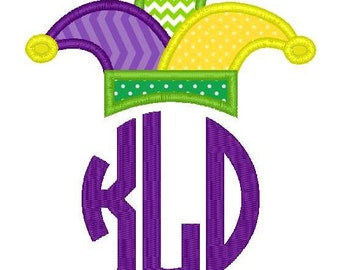 Mardi Gras Hat Topper Applique Machine Embroidery