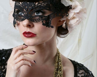 Black lace masquerade mask.