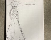 Gown Sketch, Original  Art,