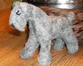 Needle Felted Kerry Blue Terrier
