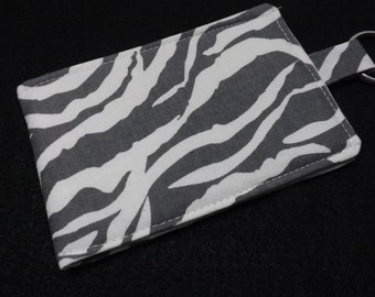 CELL PHONE SLEEVE Gray Zebra