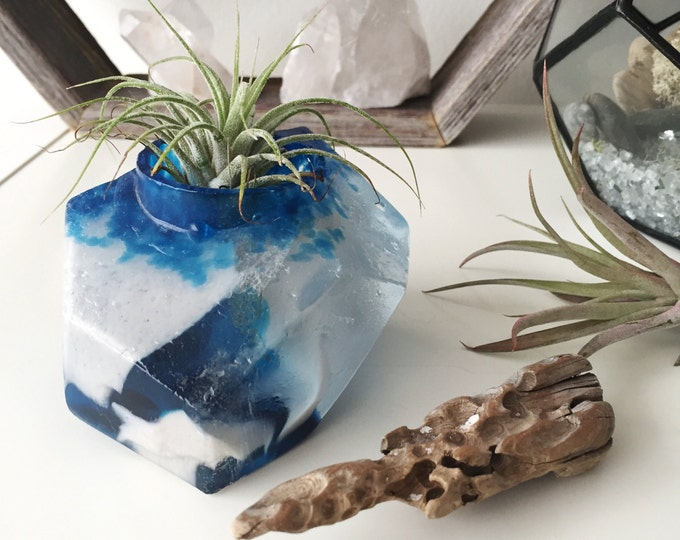 Votive Candle holder, Home decor, Candle Holder glass, Crystal geode decor, Bedroom decor, Tea light holder, Crystal Quartz Decor