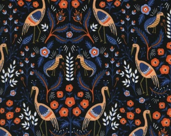 Cotton + Steel - Rifle Paper Co. - Les Fleurs - Tapestry in Black