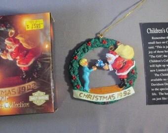 Vintage HARLEY-DAVIDSON 1992 Ornament - Harley-Davidson Christmas 1992 Ornament