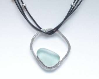 Sea Glass Jewelry - Sterling Scottish Sea Glass Necklace
