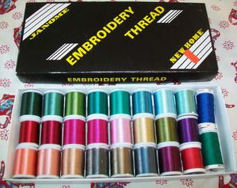26 Spools of Thread, Janome (23), Gutermann, Mettler, Supplies