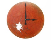 Shattered Metal, Extra Large Wall Clock, Rusted Wall Clock, rustic wall clock, unique wall clock, modern wall clock, steampunk wall clock