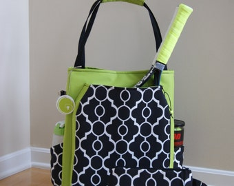 Large Tennis Bag and Accessory Bag- Made to Order.