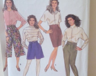 Simplicity 7386 Misses Culottes, Pencil Skirt