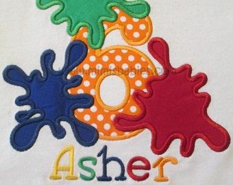 Paint Splatter Birthday Shirt, Splattered Paint Birthday, Paint Powder Birthday