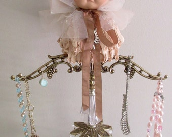 Vintage Doll Lamp Base Jewelry Holder