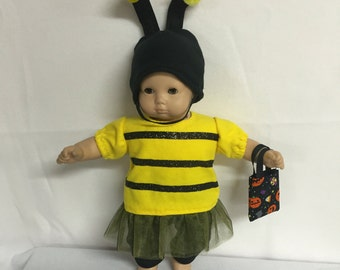 Doll Clothes for American Girl Bitty Baby Bitty Twin or Some Other 15 Inch Dolls, Itty Bitty Bumble Bee Halloween Costume