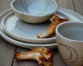 Ceramic dinner plate, Stoneware Dinnerware set, ceramic plates set, wedding gift, rustic pottery dinnerware