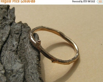 SPECIALS Small Recycled Bronze Twig Ring