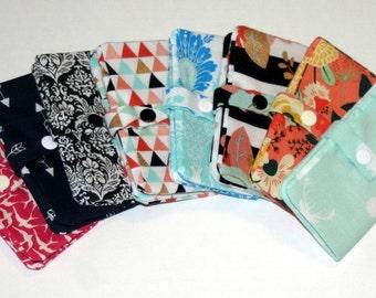 Mini Fabric Snap Wallet