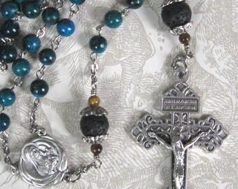 Australian Jasper Rosary, Father's Day Rosary, Pardon Crucifix Rosary, Man's Rosary