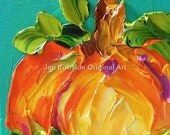 Pumpkin Oil Painting , Fall Decor , Home and Living , Home Decor Jan Ironside , Orange , Wall decor , Original Art