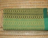 Green Handwoven Towel - Kitchen Towel In Green - Cotton Hand Towel in Shades of Green