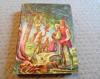 Swiss Family Robinson by Johann Wyss Illustrated Junior Library Edition Color Illustrations 1949 Edited by William Kingston Lynd Ward Illust