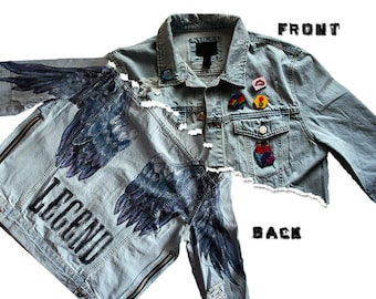 Legend Custom Hand Painted Denim Jacket