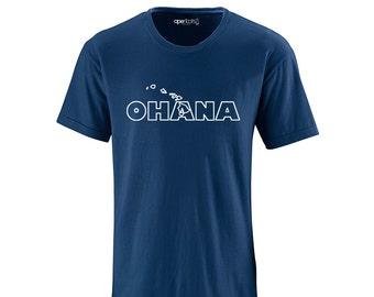 Apericots Ohana Family Hawaii Hawaiian Cute Fun Unisex Adult Soft Quality Tee Shirt